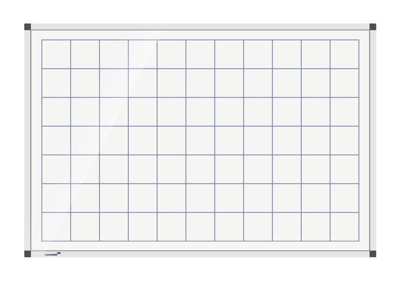 Legamaster Prémium, négyzetrácsos tábla, mágneses, 100x200cm