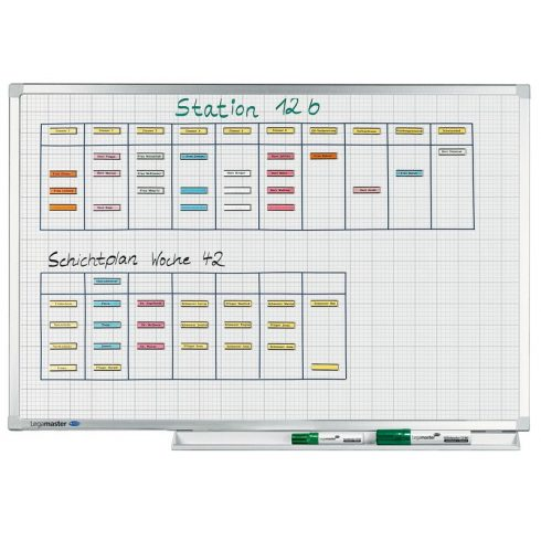 Legamaster Professional, négyzetrácsos tábla, mágneses, 90x120 cm