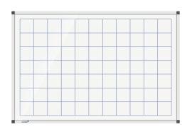 Legamaster Prémium, négyzetrácsos tábla, mágneses, 60x90cm