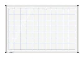 Legamaster Prémium, négyzetrácsos tábla, mágneses, 90x120cm
