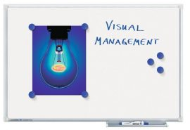 Legamaster Economy  Plus mágneses fehér tábla (whiteboard) 100x150 cm
