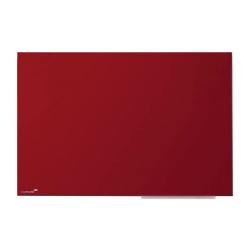Legamaster Színes, mágneses üvegtábla, 90x120cm, piros