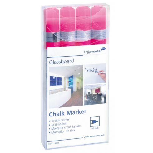 Legamaster Táblafilc üvegtáblákhoz, pink, 4 db