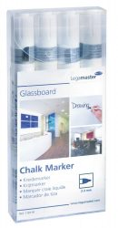 Legamaster Táblafilc üvegtáblákhoz, fehér, 4 db