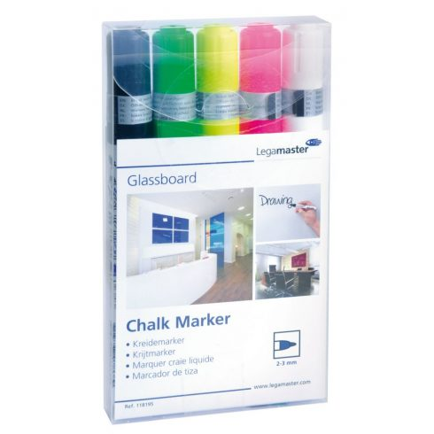 Legamaster Táblafilc üvegtáblákhoz, 5 szín