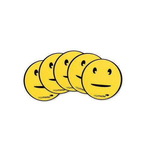 Mágneses emotikonok (smiley), Természetes, 50 mm, 5 db