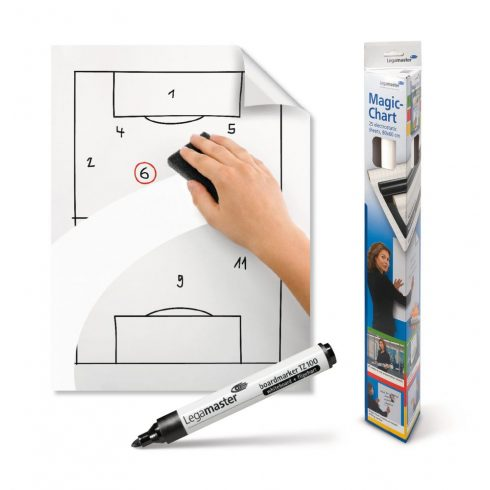 Legamaster Magic-chart, fehér tábla (whiteboard), fehér