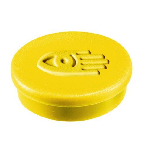 Táblamágnes, 20 mm, sárga