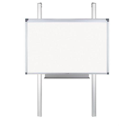 FLEX pilonos fali tartó Legamaster interaktív táblákhoz (fix magasságú, bármely méretű táblához) tolltartóval és laptop polccal