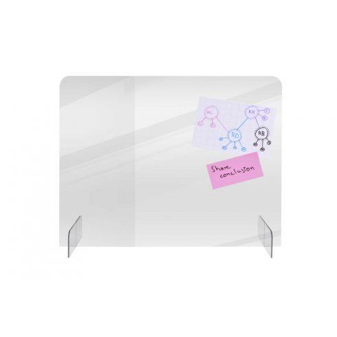Basic íróasztali elválasztó tábla 70x85 cm, átlátszó (4 mm)