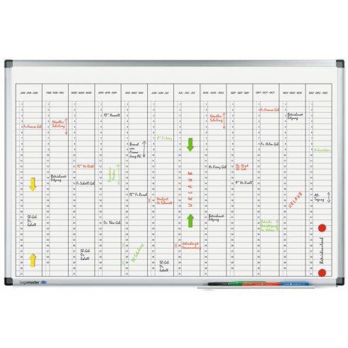 Legamaster Premium éves tervezőtábla (függőleges), 60x90 cm