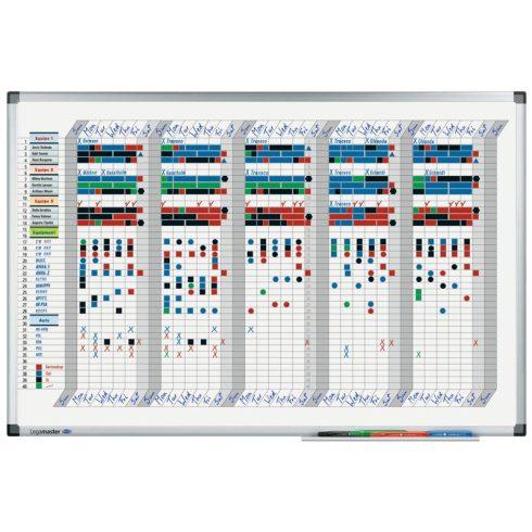 Legamaster Premium heti tervezőtábla, 35 napos bontás, 60 x 90 cm