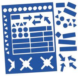 Válogatott mágneses szimbólumok, kék, 10 mm