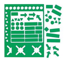 Válogatott mágneses szimbólumok, 20 mm, zöld