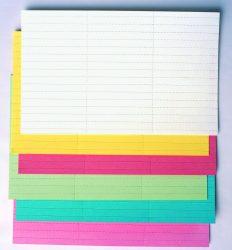 Címke papír, zöld, 20x60 mm