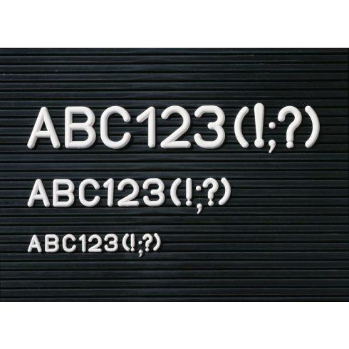 Karakterkészlet információs táblához, fél doboz (több méretben)