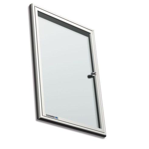 Legamaster Premium beltéri fali vitrin és fehér tábla (whiteboard) egyben (kifelé nyíló ajtóval) 65,