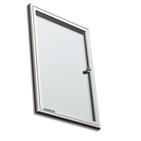 Legamaster Premium beltéri fali vitrin és fehér tábla (whiteboard) egyben (kifelé nyíló ajtóval) 94,