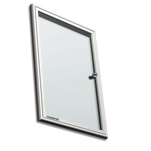 Legamaster Premium beltéri fali vitrin és fehér tábla (whiteboard) egyben (kifelé nyíló ajtóval) 68,