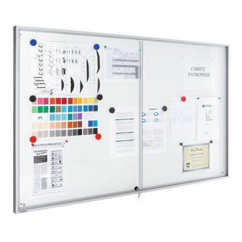 Legamaster Premium beltéri fali vitrin és fehér tábla (whiteboard) egyben (tolóajtóval) 95,0x194,9 c