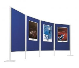 Legaline professional kétoldalú filctábla, kék filccel, 90x150 cm